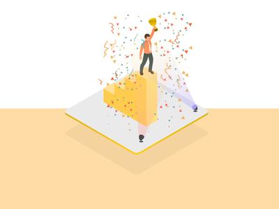 Wins- Isometric Illustration