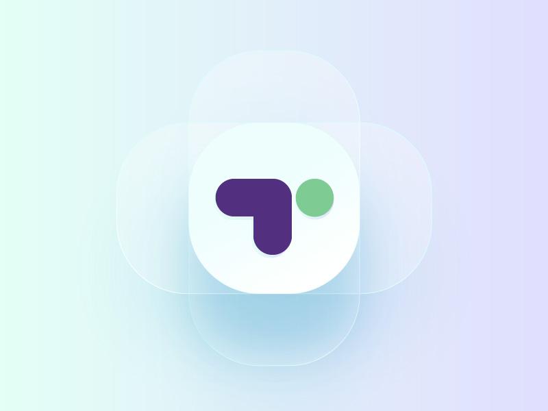 T minimal icon typehue t alphabet