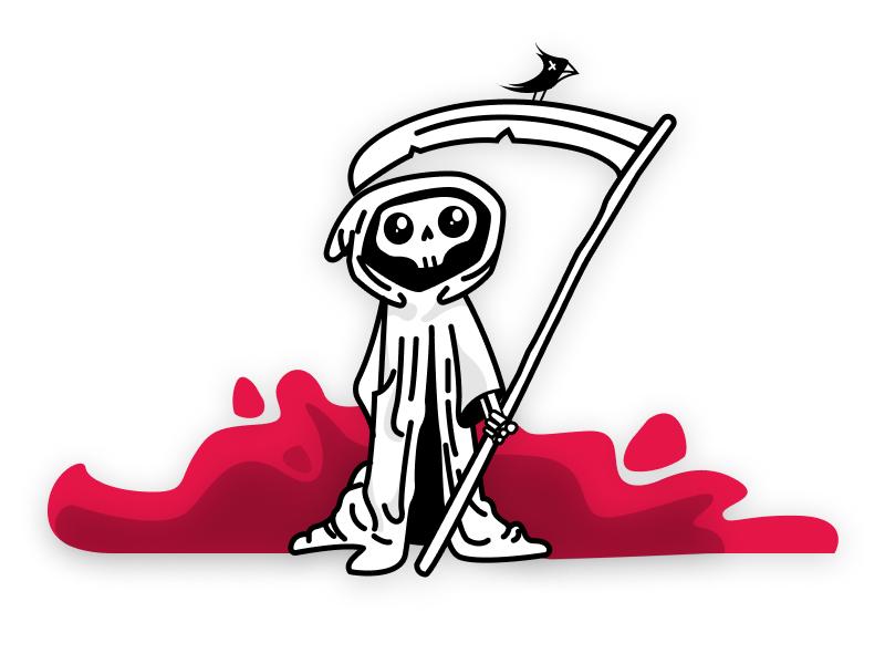 Grim Reaper playoffs sticker mule figma halloween skull grim grim reaper