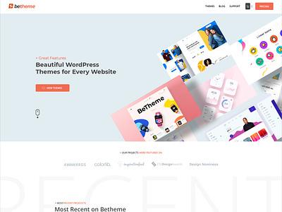 BeThemes New Homepage wordpress theme illustration design wordpress