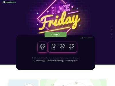 Black Friday Landing Page elementor-pro elementor campaign design black friday