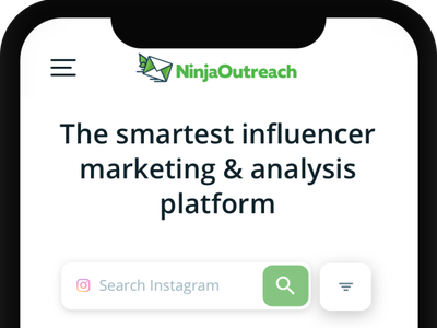 NinjaOutreach Mobile Web Site design wordpress search bar influencers ninjaoutreach mobile design