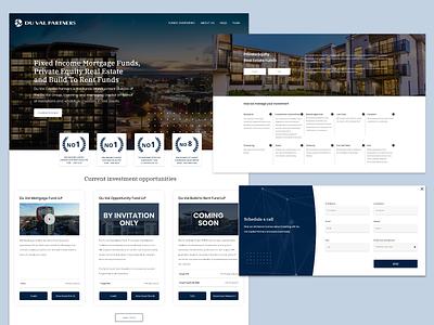 Du Val Partners digital ui web design