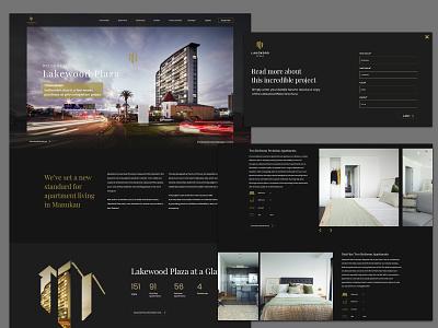 Lakewood Plaza Website design ui web