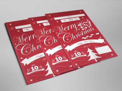Merry Christmas Cards gifts happy branding christmas cards