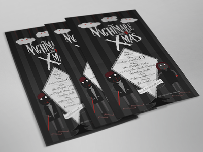 Nightmare before Xmas party halloween poster branding cards invites