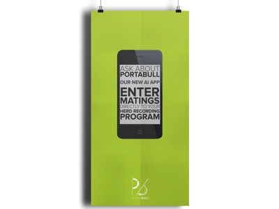 Portabull Poster - 2013 mobile app poster web typography cellphone