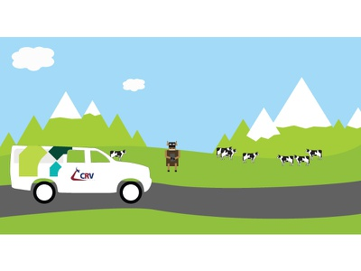 Newsletter Image (Set)  image clouds mountains cows art vector art flat newsletter email illustration