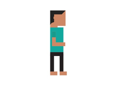 Pixel Me colour flat me pixel
