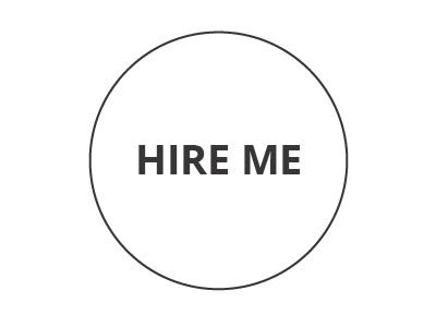 Hire Me Banner 2016 one colour flat simple design me hire