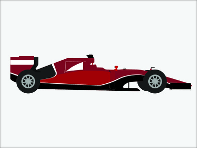 F1 Car Flat Design - WIP ferrari drawing illustration gp tyres wip f1 car flat