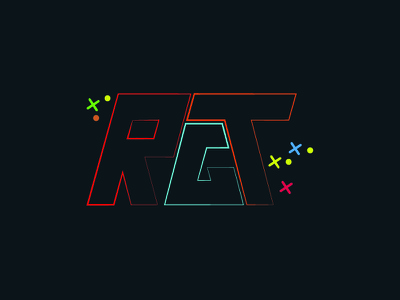 RGT - Rohizzle Gaming Time pc personal youtube exciting fun bright colours flat logo gaming