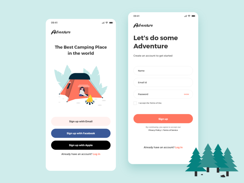 Sign Up ios sign up adobe xd adobe illustration vector android design app ux ui dribbble