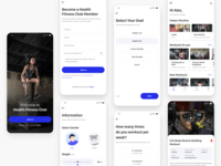 Fitness App Design yoga crossfit health illustration figma workout fitness android ios app design ux ui