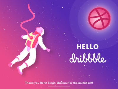 Hello Dribbble! debut first short dribbble welcome hello dribbble hello