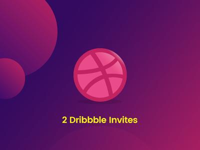 2 Dribbble Invites dribbble dribbble-invites invites