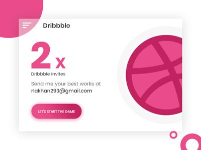 2 Dribbble Invites dribbble-invites invites dribbble