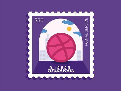 Stamp postal service stemp dribbble