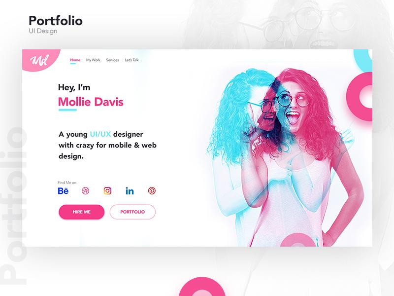 Designer Portfolio designer design portfolio website ux ui