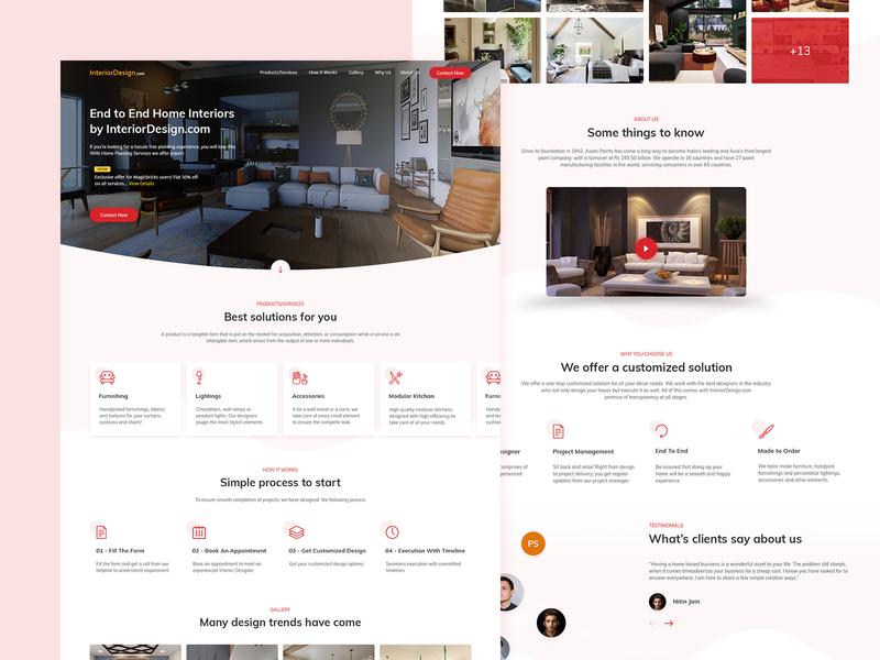 Interior Decor Solutions home interior web website user interface user experience b2c ui uidesign uxdesign ux application app design app