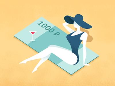 Women and money hat tan sexy girl beach woman kept recreation denomination money female ruble