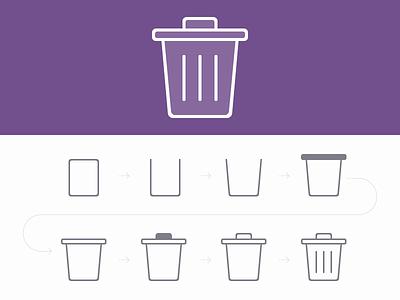 Trash Icon Design icon design outline icon trash photoshop psd flat 2px freebie flat icon design tutorial