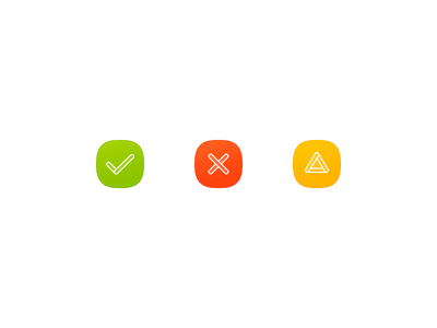 Simple Buttons icon design icon simple button alert error success check photoshop user interface 2px outline