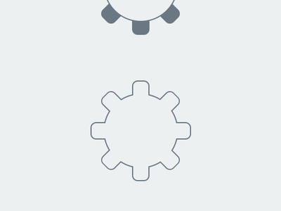 How to create a simple Gear icon in photoshop - PSD photoshop design icon freebie psd shape tutorial simple outline icon design flat icon custom shape