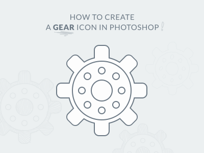 How to create a simple Gear icon in photoshop - PSD