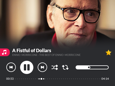Free Music Player freebie music player shape photoshop icon flat design design 2px ennio morricone flat icon lato font