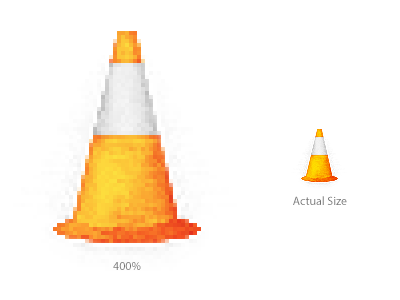 Traffic Cone construction silver zoom noise orange design photoshop pixel icon cone road traffic