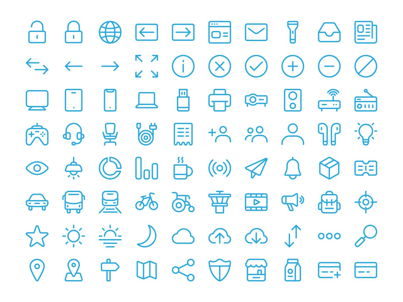 100 free icon set