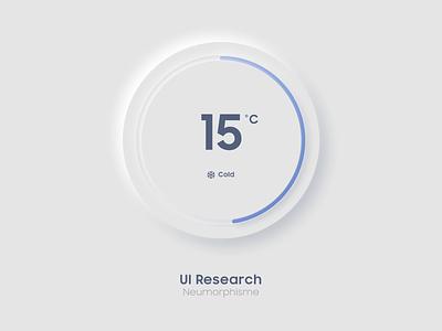 Neumorphisme thermostat smart smarthome connected iot degree mockup mobile design uidesign ui apple nest thermostat