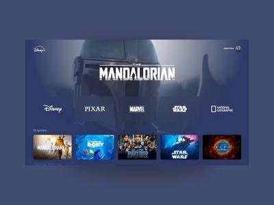 Disney+ design concept concept principle app principle interface uidesign ui netflix streaming apple tv disney animation animated