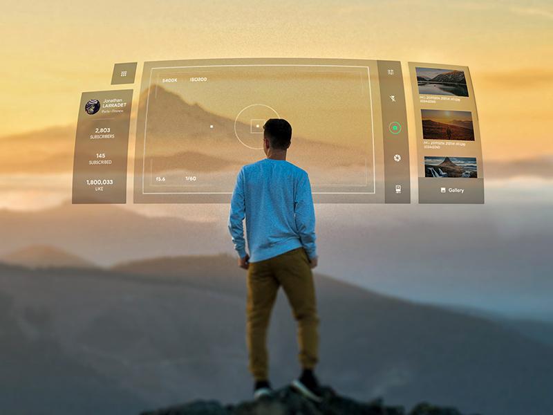 AR experimantation #2 camera ar vr experimentation design laptop mixted virtual augmented reallity ui