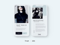 Google's women initiative concept in Iphone X