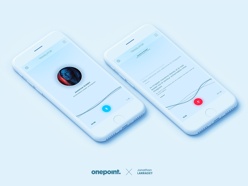 Translate app for Onepoint voice white iphone mockup translate app iphonex