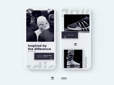 Adidas AQT - ADV black & white Design concept
