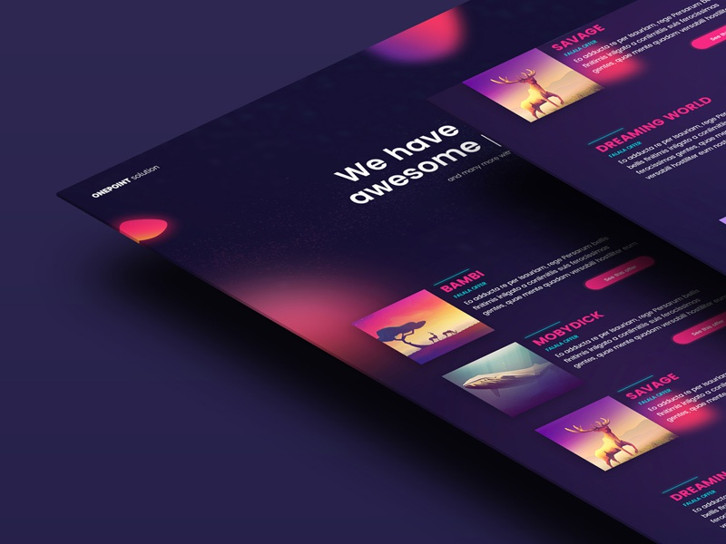Jonathan Larradet 82 web direction art ui website landing page neon