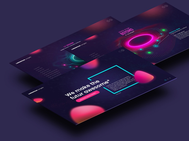 Jonathan Larradet 83 mockup lava webgl threejs drive neon webdesign ux ui