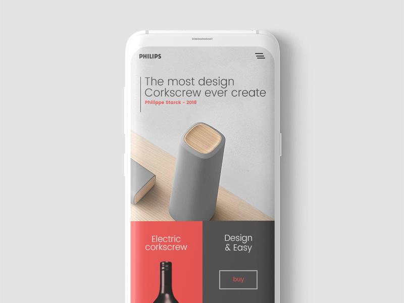 Jonathan Larradet 85 responsive corkscrew wine design mobile ui