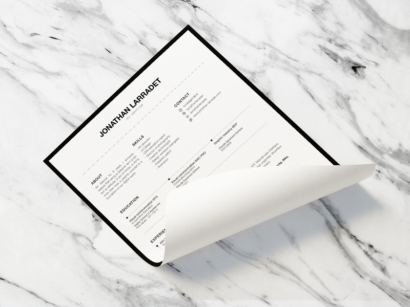 Resume 2018 design cv resume print graphic