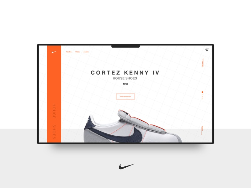 Nike - Cortez kenny IV aaa commerce homepage ux ui landing page adidas nike card shop shoes branding art direction