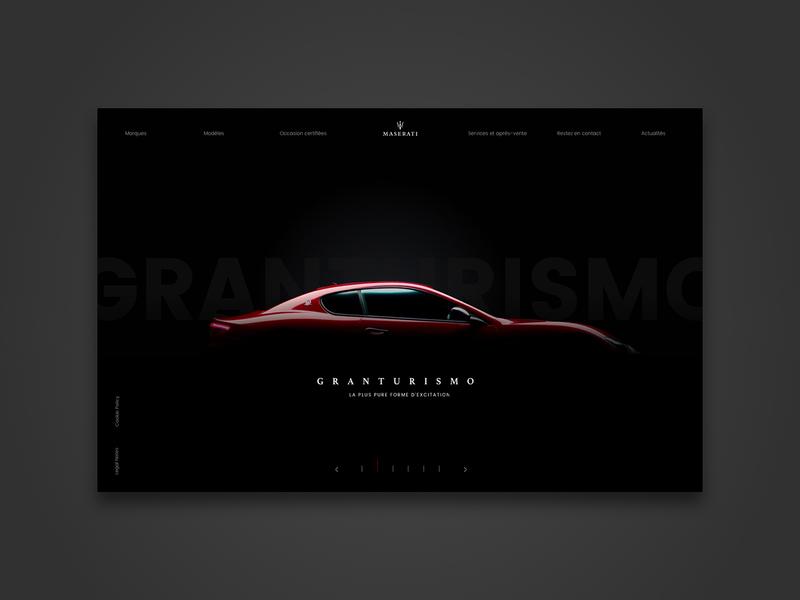 MASERATI landing page rebranding aaa automobile rebranding car landing desktop website brand design ecommerce ui