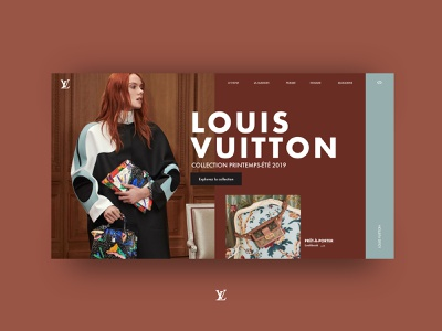 Louis Vuitton Concept landing for fashion aaa uiue shop mock up luxury luxe landing fashion ecommerce design art direction