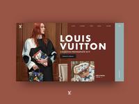 Louis Vuitton Concept landing for fashion