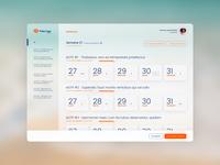 Fluent Design dashboard