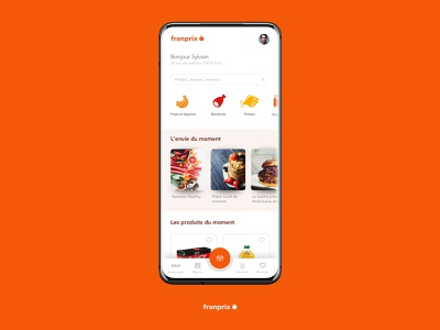 Franprix e-commerce app concept aab uidesign ui art direction mockup market android food shopping commerce ecommerce shop app mobile app mobile