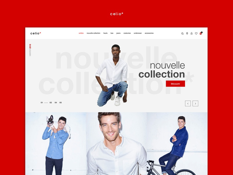 Celio website redesign concept aaa uidesign ui art direction marketplace concept redesign wear commerce ecommerce website shopping shop