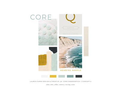 Moodboard Concept turquoise inviting yellow seafoam warm summer